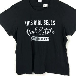 Port & Company This Girl Sells Real Estate T-shirt